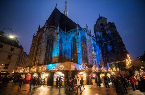 Offenbar sollte das erste Attentat den Christkindlmarkt am Wiener Stephansplatz treffen. APA
