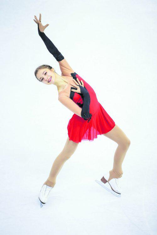Olga Mikutina lieferte bei den Staatsmeisterschaften eine souveräne Kür ab.gepa