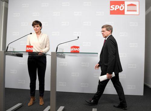 Parteichefin Rendi-Wagner und Bundesgeschäftsführer Deutsch verkündeten am Montag den Startschuss zur finanziellen Genesung der SPÖ.APA