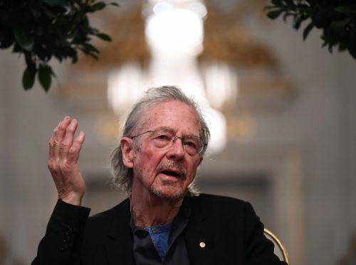 Peter Handke hat seinen ersten öffentlichen Auftritt anlässlich der Nobelpreiswoche absolviert. afp
