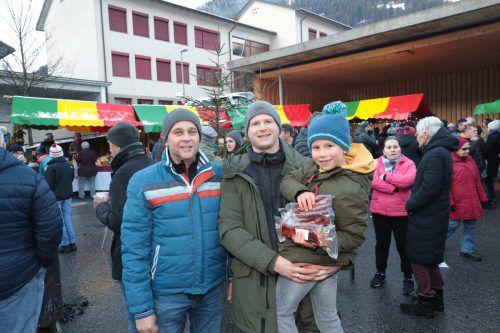Peter Kasper, Michael Hackhofer und Sohn Linus.