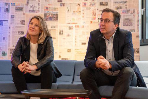 Petra Mödlhammer-Prantner und Stefan Siegele sprachen über die Vorhaben der Asfinag im Jahr 2020. VN/Stiplovsek