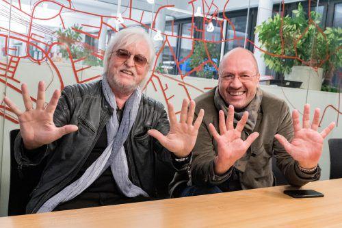 Reinhold Bilgeri (l.) und Bernie Weber blicken auf 20 erfolgreiche Jahre zurück, denken aber noch lange nicht ans Aufhören. VN/Stiplovsek