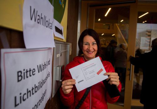 Russ-Preis-Trägerin Susanne Marosch nutzte ihr Stimmrecht. VN/Paulitsch