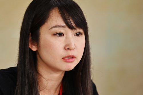 Schauspielerin und Autorin Yumi Ishikawa führt die Frauengruppe an. AFP