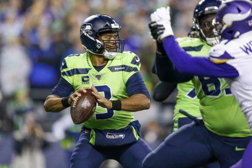 Seattles Russell Wilson warf gegen die Vikings zwei Touchdown-Pässe.ap