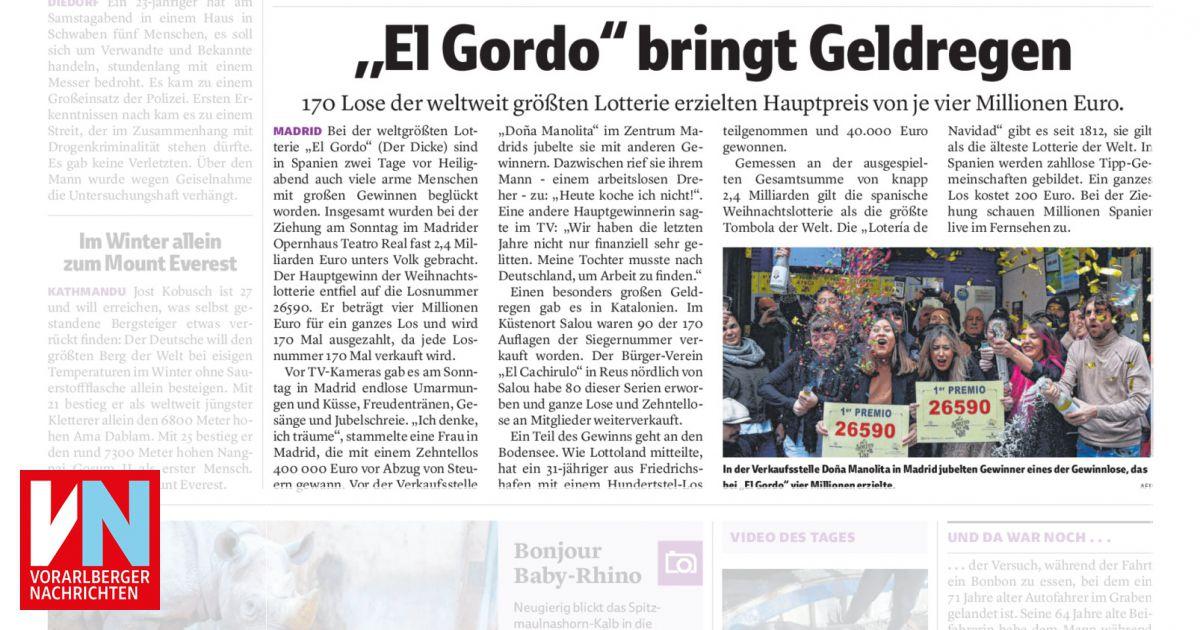 El Gordo Gewinn Einlösen