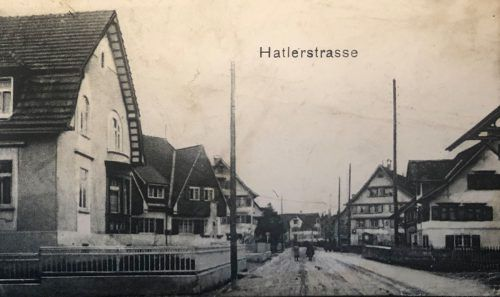 So sah die Hatlerstraße vor gut 100 Jahren aus.