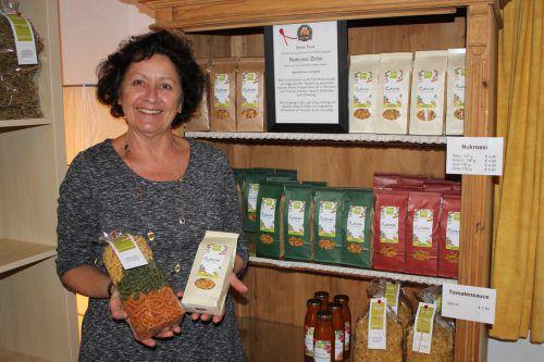 Susanne Feist hat in ihrem Haus eine Nudelproduktion eingerichtet. VN/JS