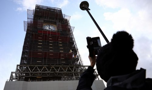 Trotz Renovierungsarbeiten wird sich Big Ben zum Jahreswechsel melden.reuters