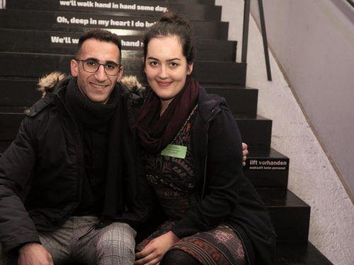 Unter den Besuchern: Brial Ozel und Camilla Jochum.