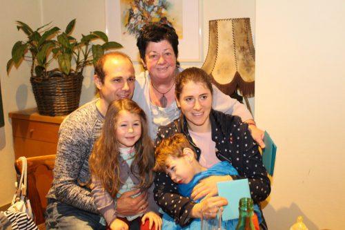 Vincent und seine Famile freuten sich.