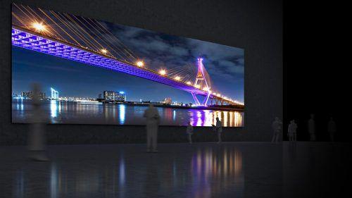 Visionworks und Samsung haben die großflächige Videowall für den Einsatz in vielen Bereichen entwickelt. Fa