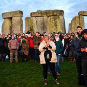 Wintersonnenwende: Tausende feiern in Stonehenge