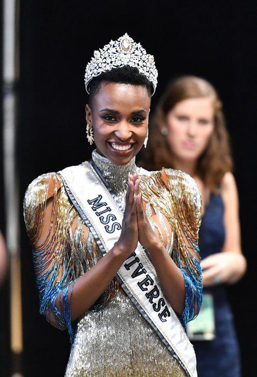 Zozibini Tunzi prangert das konventionelle Bild von Schönheit an. Sie wurde für ihre kurzen Haare gelobt. AFP