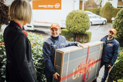 Zuwachs bei Gebrüder Weiss Home Delivery in Höhe von 24 Prozent. FA/FS
