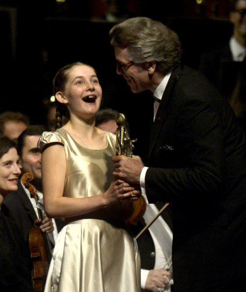 Alma Deutscher bei der Verleihung der Europäischen Kulturpreise in Wien. apa