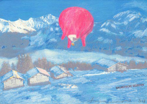 Am Sonntag, 5. Jänner, soll der Euterballon der Vorarlberger Künstlerin Barbara Anna Husar vom Bregenzerwald aus in Richtung Italien starten. Husar