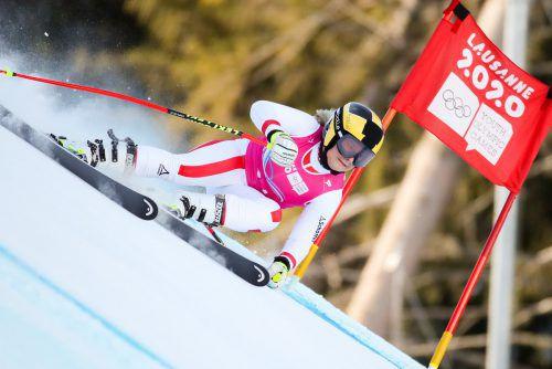Amanda Salzgeber fuhr im Super-G bei den Olympischen Jugend-Winterspielen auf den vierten Platz.gepa