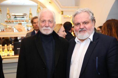 APA-Chefredakteur Johannes Bruckenberger (r.) mit Peter Michael Lingens.