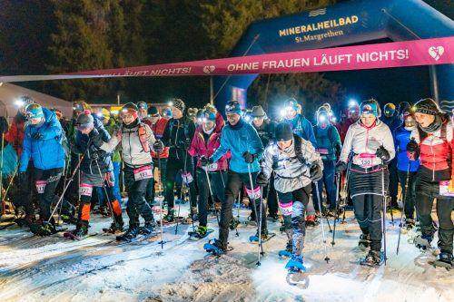 Bei der Frauen-Berg-Gaudi im winterlichen Gargellen zeigten neben den Skitourenläuferinnen auch die Schneeschuh-Ladys zünftige Leistungen.mayr