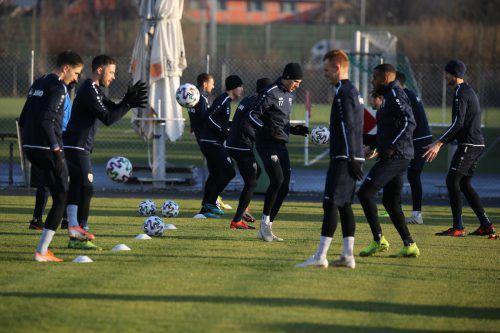 Beste Trainingsbedingungen herrschen derzeit in Altach.Hartinger/Verein