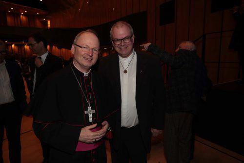 Bischof Benno Elbs und Generalvikar Hubert Lenz.