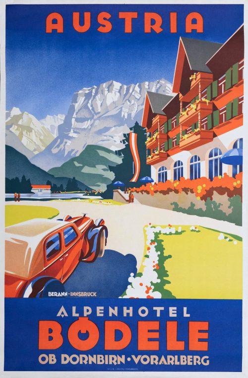 Bödele-Plakat von Heinrich C. Berann um 1936.Vorarlberger Privatsammlung