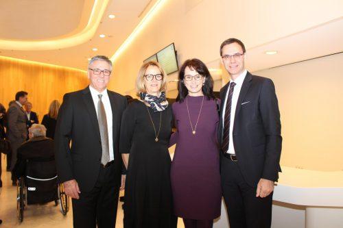 Bürgermeister Wolfgang Matt mit Ingrid Matt und Landeshauptmann Markus Wallner mit Ehefrau Sonja.