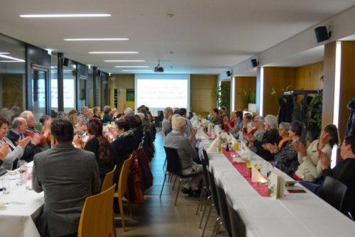 Circa 65 Gäste versammelten sich im Dezember im Restaurant DorfMitte, um das Vereinsjahr Revue passieren zu lassen.zKobla dahoam