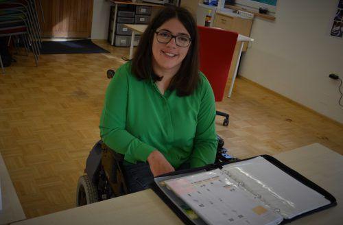 """Claudia Fessler in ihrem Büro in Höchst: """"Natürlich gibt es Grenzen, und mit denen müssen wir leben."""" HRJ"""