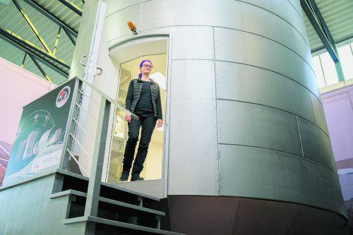 Das aus sechs Modulen bestehende Habitat wurde für den Einsatz auf Mond oder Mars konzipiert. APA
