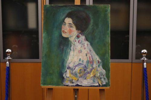 """Das gefundene """"Bildnis einer Frau"""" ist ein Spätwerk von Gustav Klimt.AP"""