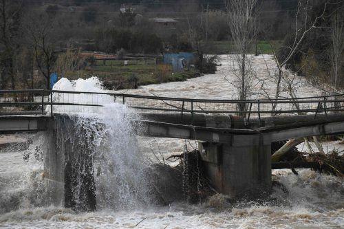 Das Sturmtief Gloria hat vielerorts für Überschwemmungen gesorgt. AFP