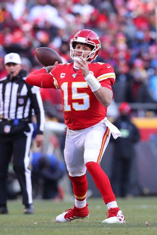 Der 24-jährige Patrick Mahomes, Quarterback der Chiefs, wurde 2019 nach seiner ersten Saison zum wertvollsten Spieler (MVP) der Liga gekürt.ap
