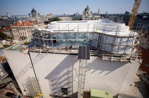 Der Dachausbau des Leopold Museums soll Ende April 2020 eröffnet werden. APA