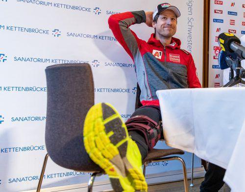 Der Kreuzbandriss soll nicht das Karriereende von Hannes Reichelt besiegeln.apa