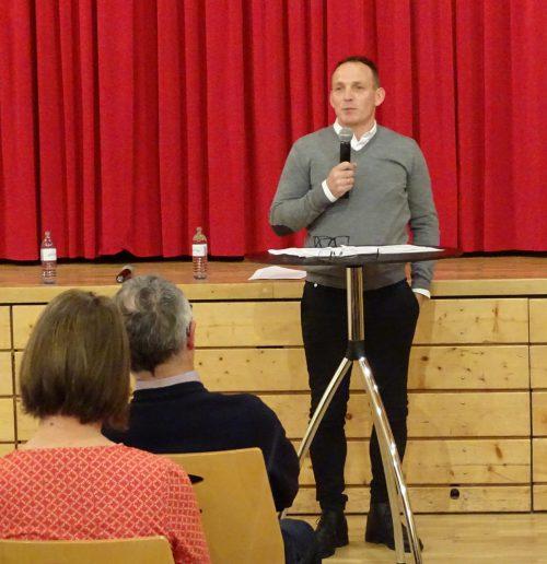 Der neue Bürgermeister stellt sich vor.Erwin Steurer