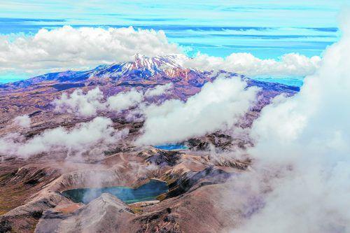 Der Ruapehu ist mit 2797 Metern der höchste Vulkan Neuseelands und ein beliebtes Skigebiet. Shutterstock (5)