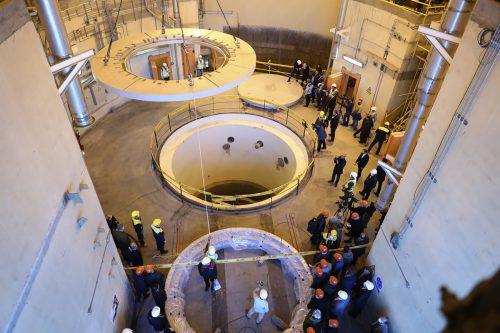 Der Schwerwasserreaktor nahe der iranischen Stadt Arak wird derzeit umgebaut. AP