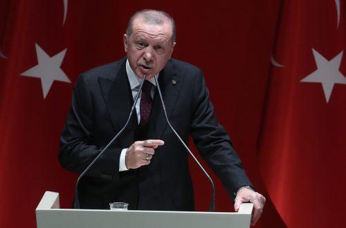 Der türkische Präsident fand heftige Worte gegen mehrere arabische Staaten. AFP