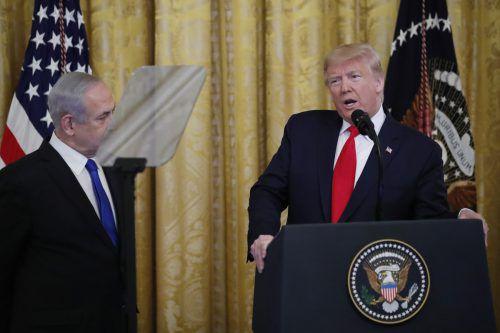 Der US-Staatschef sprach von einem langen und schwierigen Prozess. Die Palästinenserführung ist empört. AP
