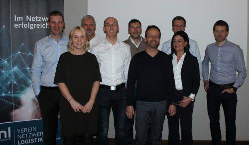Der Vorstand des Vereins Netzwerk Logistik (VNL) beim Neujahrsempfang in Dornbirn.VNL