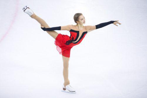 Jungstar Olga Mikutina ist das Aushängeschild des Feldkircher Eislaufvereins. In zwei Jahren will sie bei den Olympischen Spielen starten.GEpa