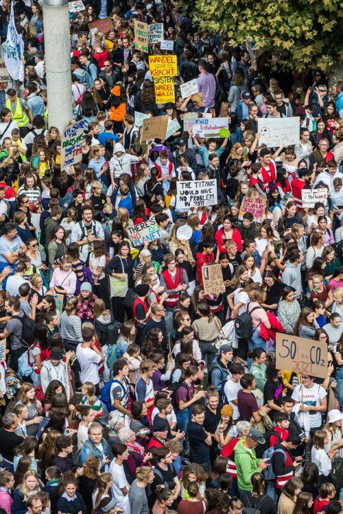 Die Fridays for Future Bewegung zeigt das Engagement der Jugendlichen. VN/steurer