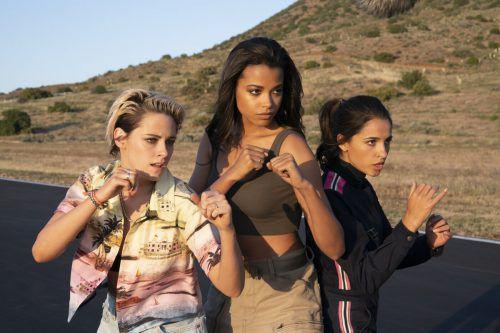 Die furchtlosen Kämpferinnen Kristen Stewart, Naomi Scott und Ella Balinska. Sony Pictures