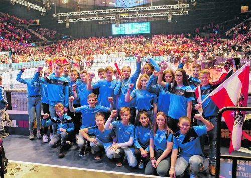 Die Mädchen und Burschen der 3a-Klasse der Sportmittelschule Schendlingen waren als Korridorkinder bei der EURO 2020 dabei.Privat