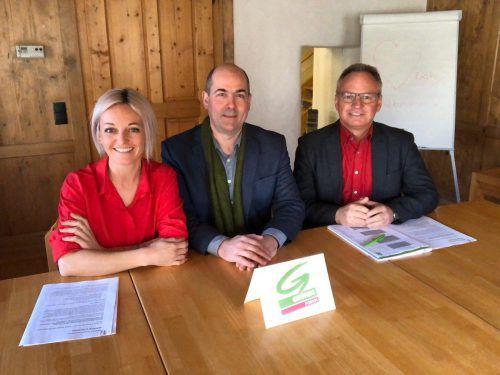 Die neue Führungsriege der Rankweiler Grünen. grünes Forum