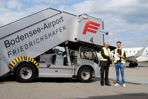 Die Passagiertreppe kam in Friedrichshafen 2019 seltener zum Einsatz. BAF