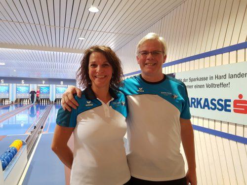 Die Sieger: Carmen Schatzmann und Elmar Ellensohn. vkfkv